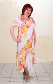 платье ассиметрия (шифон)